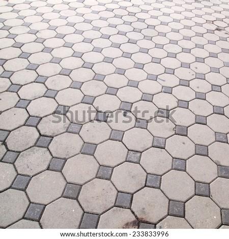 block brick background - stock photo