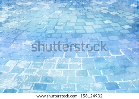 block floor light blue abstract background
