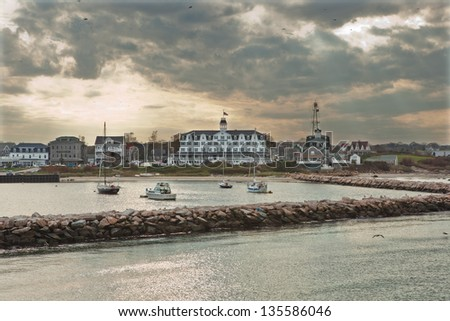 Block Island harbor, Rhode Island - stock photo