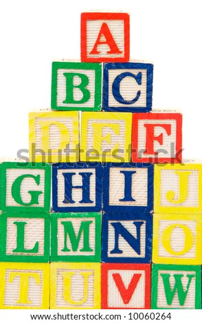 Block letters a over white background
