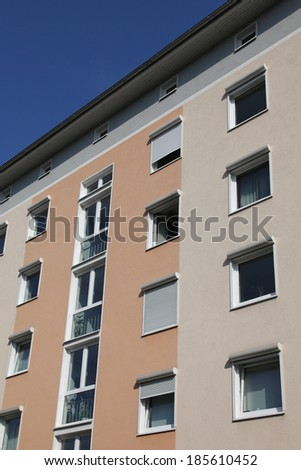 block of flats - stock photo