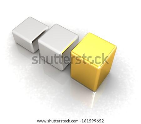 Blocks on a white background - stock photo