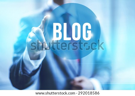 Blog and blogging concept illustration - stock photo