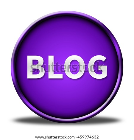 blog button isolated. 3D illustration  - stock photo