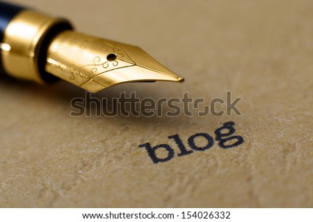 Blog concept - stock photo
