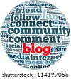 blog info-text graphics and arrangement concept on white background (word cloud) - stock photo