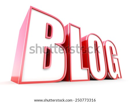 Blog tag in perspective - stock photo