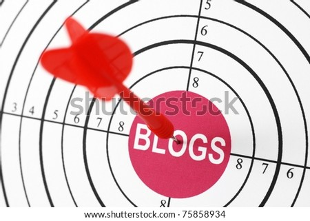 Blog target - stock photo