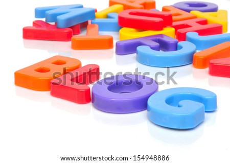 Blog with multicolored letters - stock photo