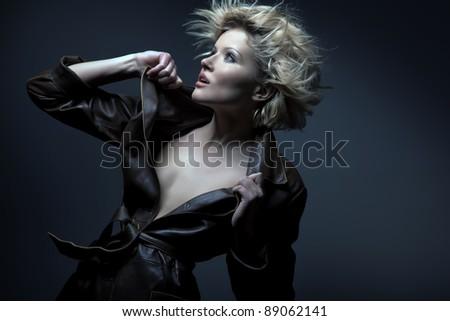 Blond beauty portrait - stock photo