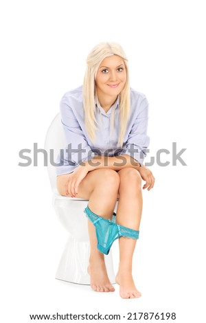 Her on the toilet peeing