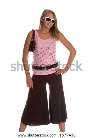 Brown Gaucho Pants