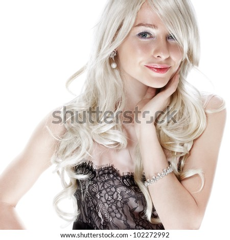 blonde - stock photo