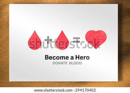 Blood donation against white card