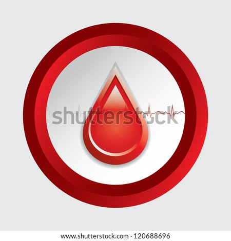 Blood donation .Medical button - stock photo