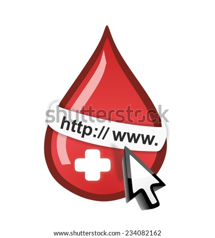Blood donation - online concept - stock photo