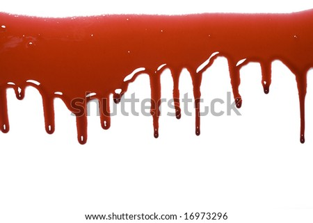 Blood drip pattern isolated on a white background - stock photo