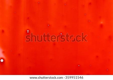 Blood dripping down, Macro shot - stock photo