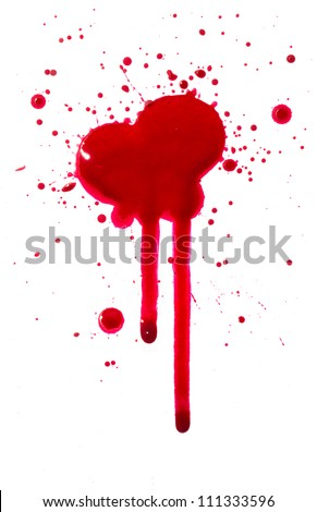 Blood drips - stock photo