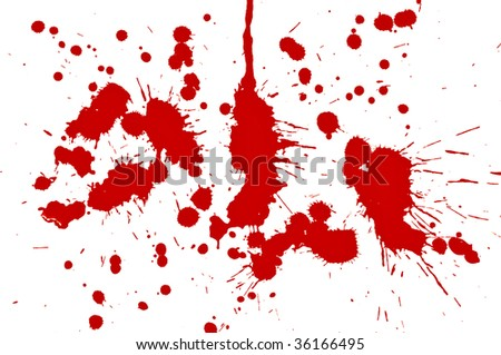 blood drops isolated on white