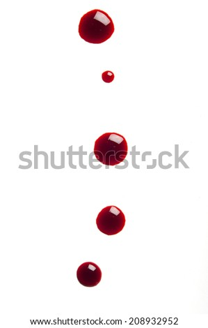 blood on white - stock photo