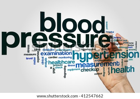Blood pressure concept word cloud background - stock photo