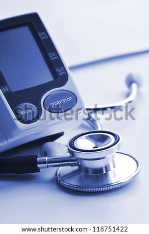 Blood pressure equipment - stock photo