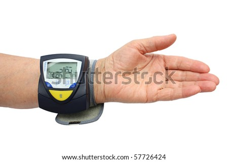 Blood pressure examination - stock photo