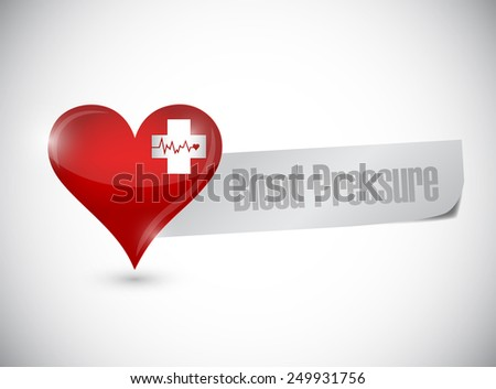 blood pressure heart sign illustration design over a white background - stock photo