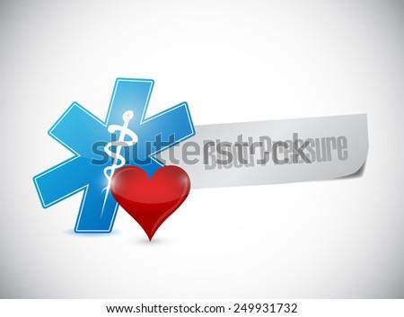 blood pressure medical sign illustration design over a white background - stock photo