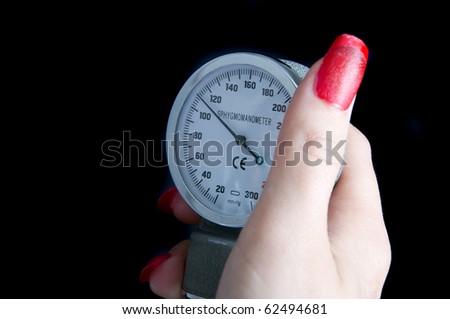 Blood pressure meter - stock photo