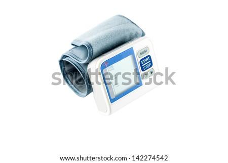 Blood pressure meter medical equipment - stock photo