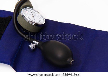 Blood pressure meter medical equipment - stock photo