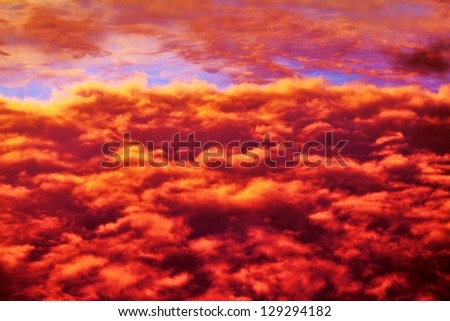 blood red sky - stock photo