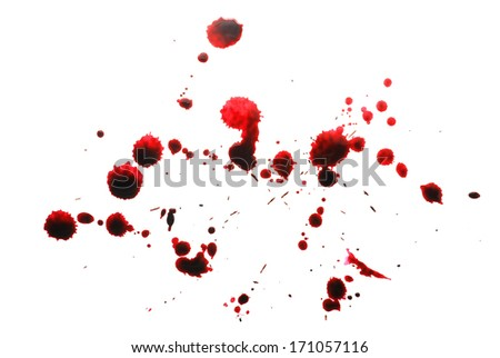 blood stains - stock photo