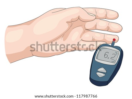 Blood test. Vector illustration. - stock photo