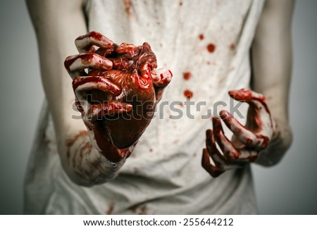 bloody hand holding - photo #24
