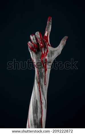 Bloody hand zombie demon