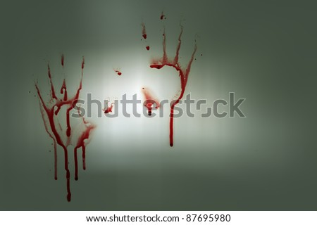Bloody hands - stock photo
