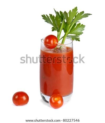 Bloody Mary isolated on white background - stock photo