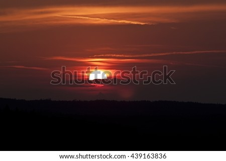 Bloody sunset - stock photo