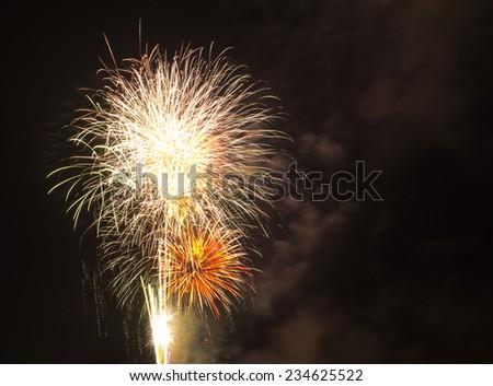 Blooming firework of international firework festival - stock photo