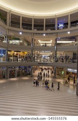 BLOOMINGTON, MN - JULY 06,  - Mall of America on July 06, 2013  in Minnesota. 40 Million people visit the Mall of America annually.  - stock photo