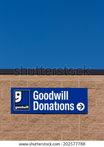 Bloomington mnusa june 21 2014 goodwill stock photo for Is goodwill a non profit organization