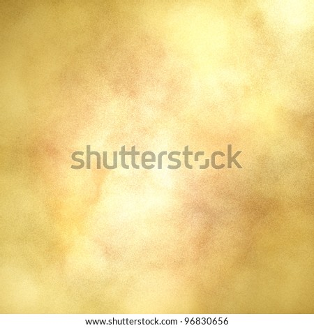 blotchy gold background with center highlight for copyspace and soft faded vintage grunge texture design layout - stock photo