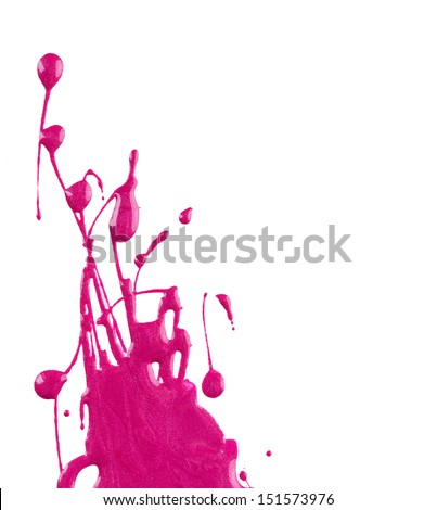 Blots of pink nail polish - stock photo