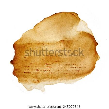 Blots of tea isolated on white background - stock photo