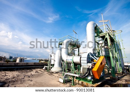 blower in factory - stock photo