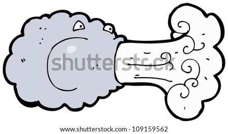 blowing cloud cartoon