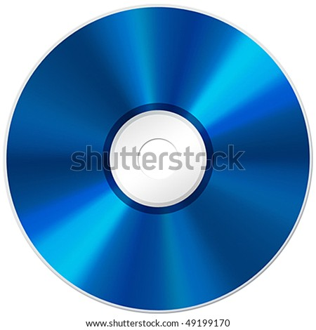 Blu-ray disc isolated on white background - stock photo